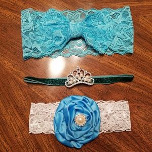 Other - Blue/Green Baby Headband Lot